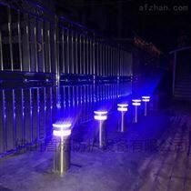 盾标防护景区电动升降防撞路障柱挡车路桩