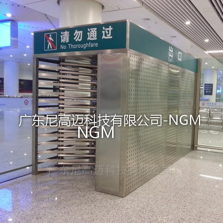 火车站单向闸机-三排梳齿状全高单限门