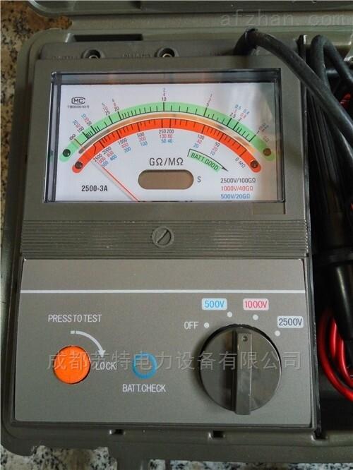 指针式绝缘电阻测试仪成都供应