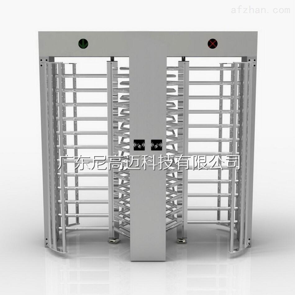 双通道十字双向全高闸不锈钢回转门