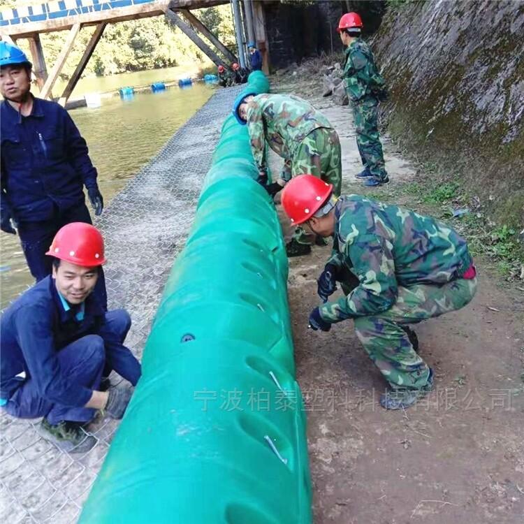 长江支流河道拦漂排 组合式塑料拦污浮筒