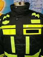 戶外防雨保暖交巡警police交通執勤反光棉服