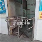 超市十字转闸门,不锈钢半封闭式旋转道闸