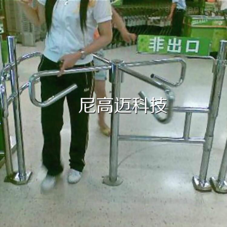 桂林连锁超市入口十字型半高单向转闸旋转机