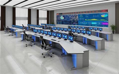指挥中心控制台家具,控制中心工作台