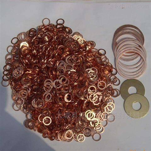 异型定制大边紫铜垫片