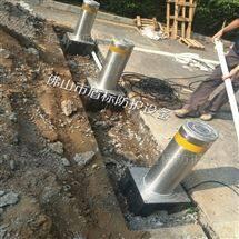 DB手动防撞气动液压升降路桩 不锈钢阻车路障
