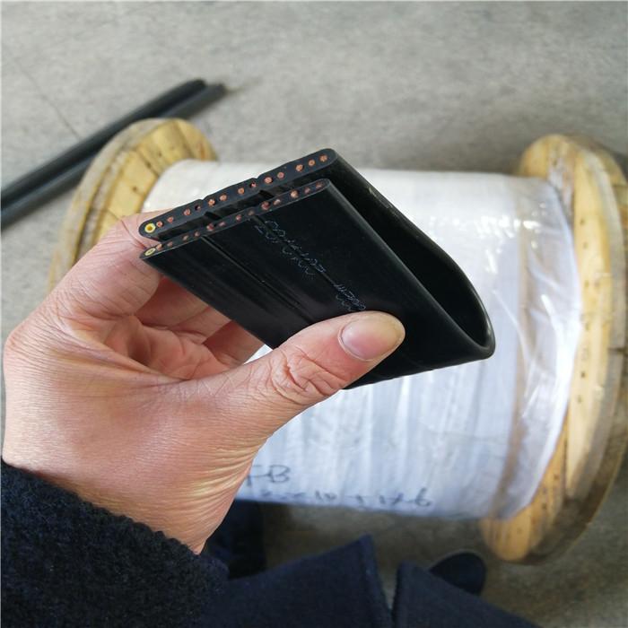 舞台升降机灯光设备专用扁电缆 电缆结构: 导体:多股束绞细丝导体