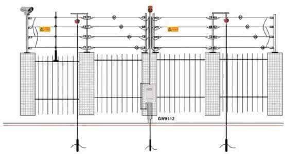 上海客欧安防-周界报警-电子围栏-脉冲电子围栏