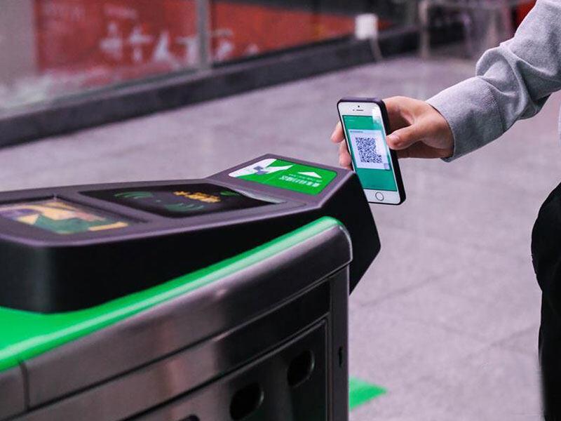 二维码门禁读卡器应用于地铁站